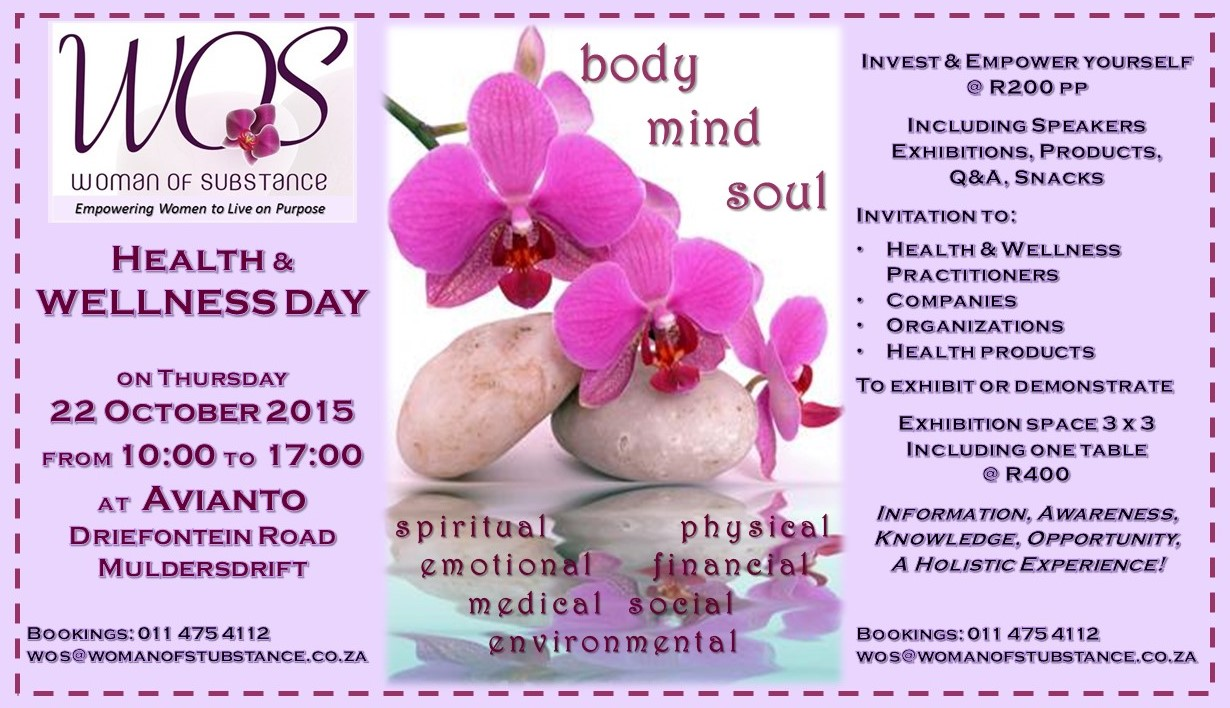 Woman of Substance Health & Wellness Day @ Avianto, Driefontein Road, Muldersdrift