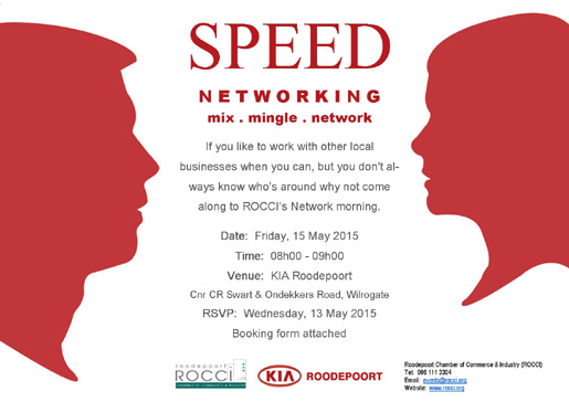ROCCI Speed Network @ KIA Roodepoort | Roodepoort | Gauteng | South Africa