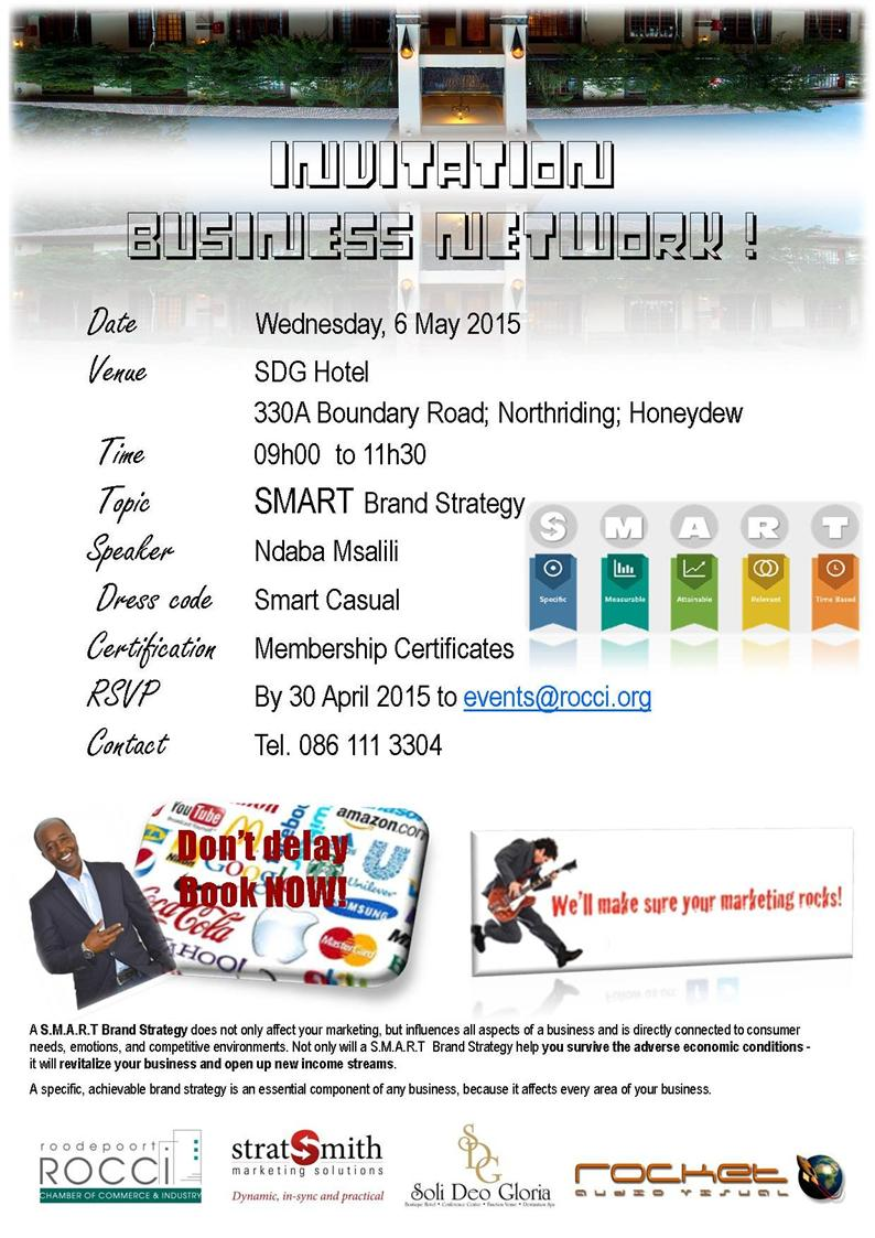 ROCCI Business Network & Certification Function @ Soli Deo Gloria | Roodepoort | Gauteng | South Africa