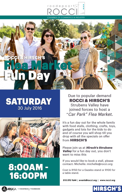 ROCCI & Hirsch's Flea Market Fun Day @ Hirsch Strubens Valley | Roodepoort | Gauteng | South Africa